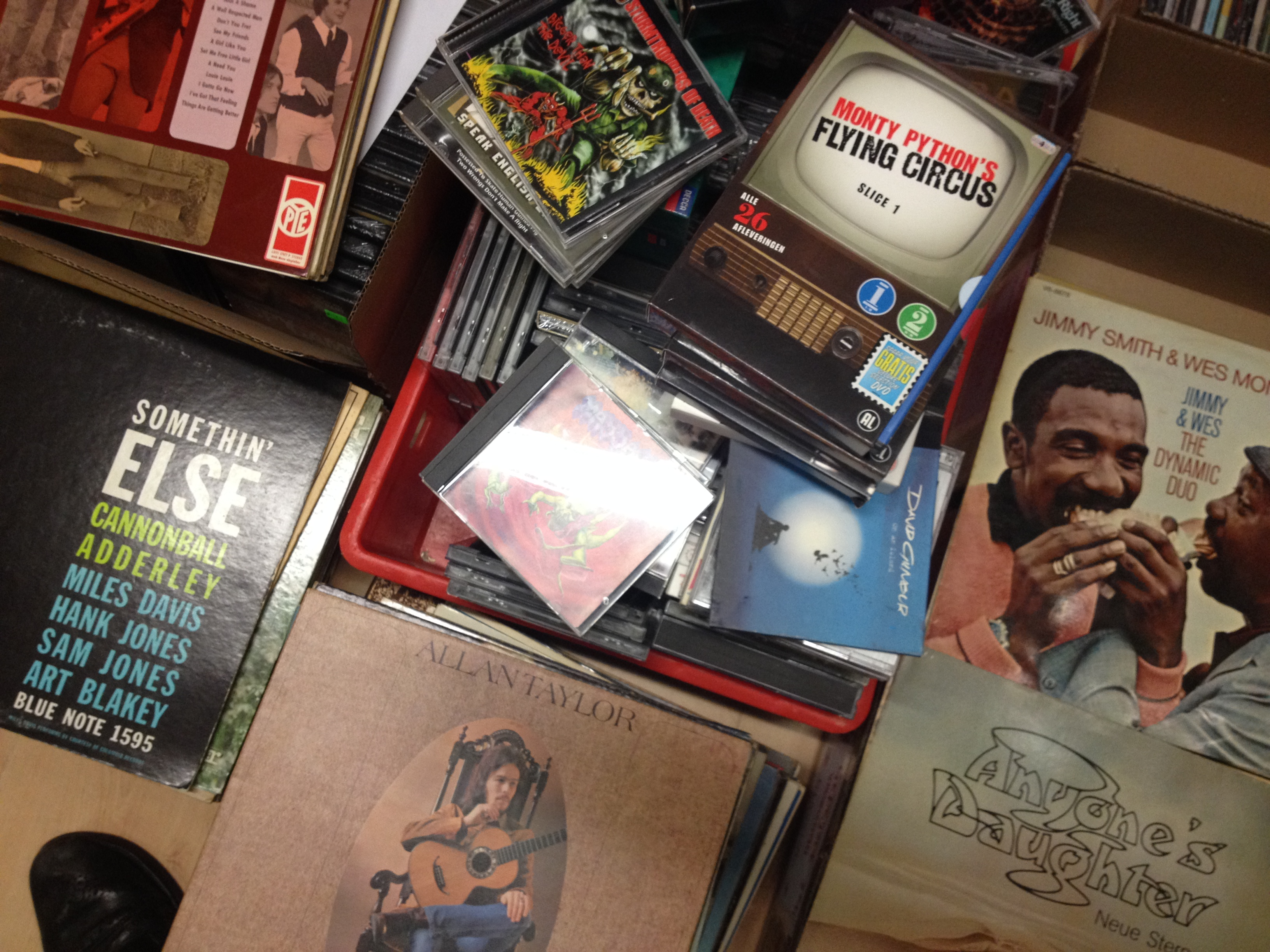 CD's, DVD's en vinyl